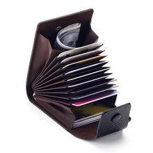 Cartera de cuero Unisex para negocios, tarjetero de identificación, carcasa para tarjetas, organizador de bolsillo, dinero, teléfono, monedas, moda de Año Nuevo, 2021