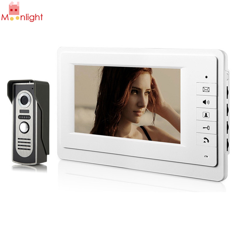 US Plug High Quality 7 TFT LCD Screen IR CMOS Camera Video Door Phone Intercom Doorbell System Rain-proof Outdoor Unit
