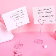 HOT SALE! Fashion Wedding Place Card Holder Romantic Heart Flamingo Photo Clip Table Number Stand