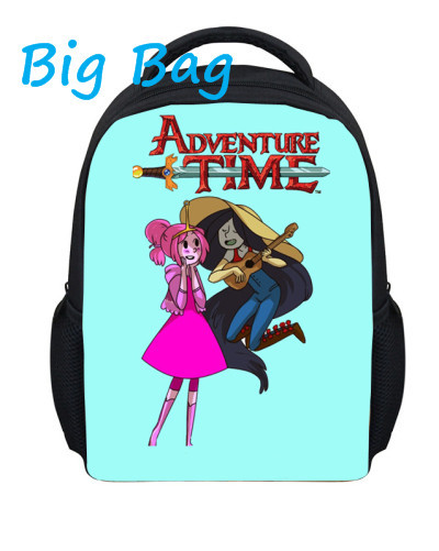 2016 New 13 Inch Backpack Cartoon School Bag Fashion Custom Adventure Time Backpack Student Teenagers School Bag