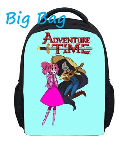 2016 New 13 Inch Backpack Cartoon School Bag Fashion Custom Adventure Time Backpack Student Teenagers School Bag