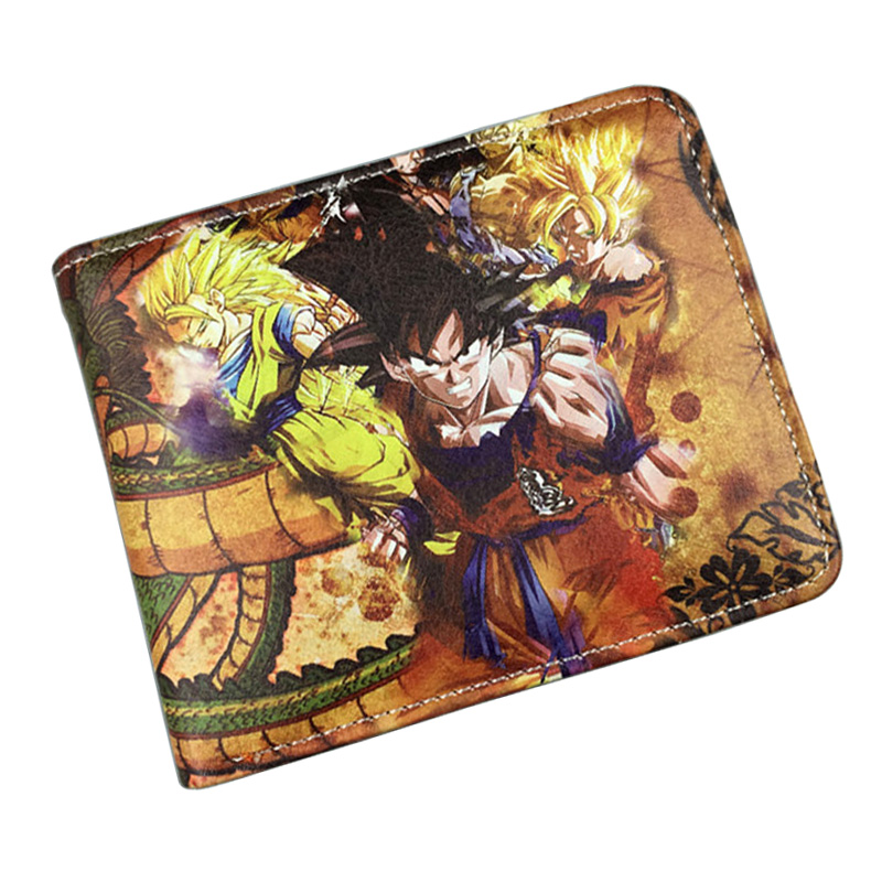 Lovely Japanese Anime Cartoon Purse Dragon Ball Z PU Leather Wallet Money Pocket Card Holder Bags for Kid Girls Boy Short Wallet женские блузки и рубашки brand new 2015 ol blusas camisas femininas g0530