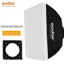 "Godox 24 ""x 24"" 60x60 ס""מ תמונה סטודיו Softbox רך תיבת עם אוניברסלי הר עבור סטודיו פלאש Strobe"