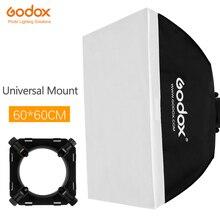 """Godox 24 """"x 24"""" 60x60cm estúdio de fotografia softbox com montagem universal para estúdio flash strobe"""