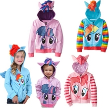 2017 Cute Brand Children's Outerwear, Boys Girls Clothing Coat Little Pony Jackets, My Kids Boy's Coat Avengers Hoodies/sweater