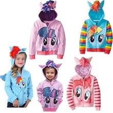 Коллекция 2018 года, милая Брендовая детская верхняя одежда, одежда для мальчиков и девочек, пальто, куртки с рисунком «Маленький Пони», пальто для мальчиков «My Kids», толстовки с капюшоном и свитер «мстители»