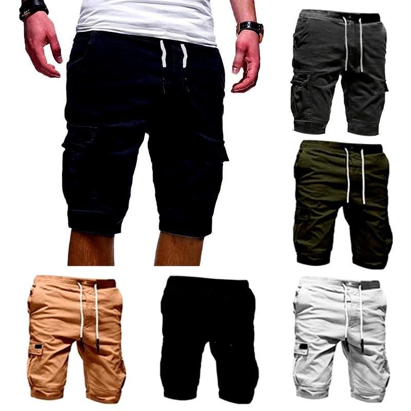 Men Half Pants Multi-pockets Loose Breathable Male Casual Pants For Summer TT@88