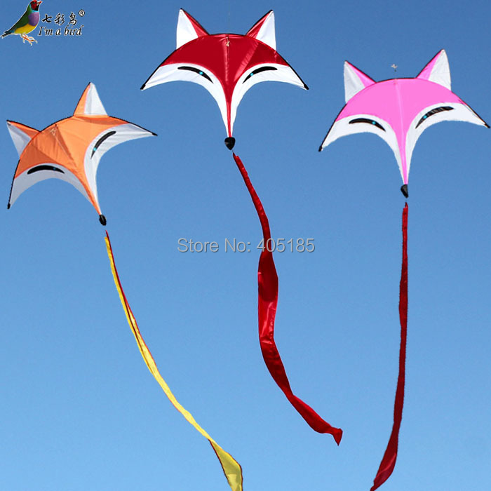 Free Shipping Outdoor Fun Sports Weifang Kite Fox Kite High Quality Umbrella Carbon Rod Animal Kite New Arrival Flying