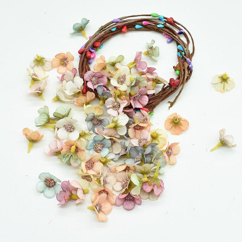 50pcs MINI Silk Daisy Multicolor Fake Artificial Flower For Christmas And Home Decor 3