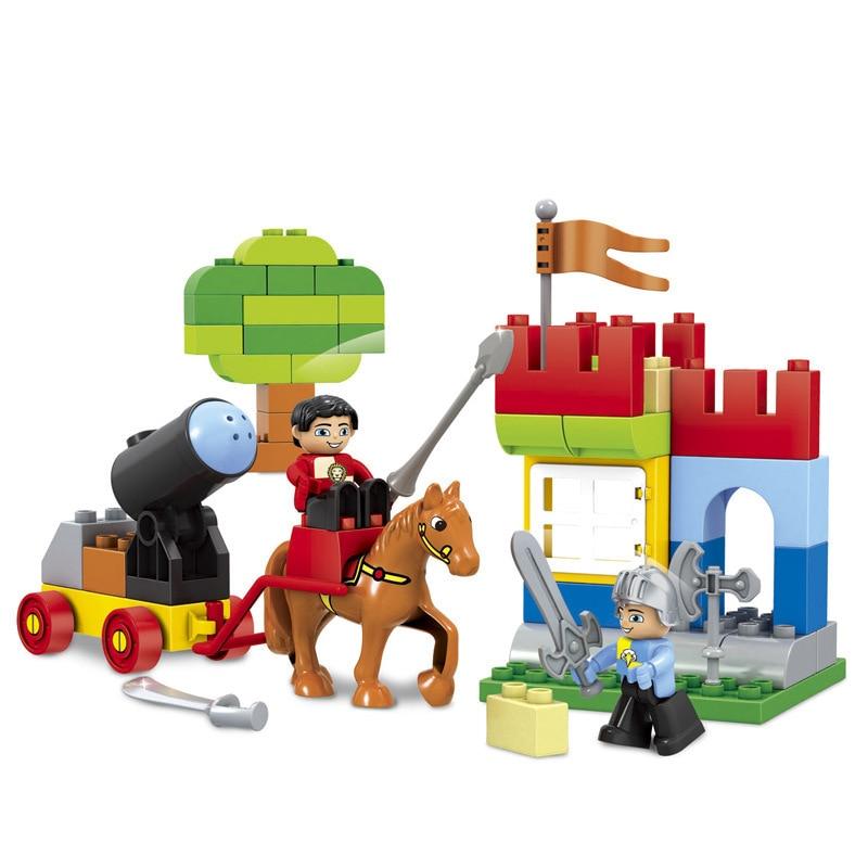 58kpl suurikokoinen linnan imperiumi nexo ritarit rakennuspalikat tiilet koulutus lapset lelut yhteensopiva Legoe duplo alkuperäisen laatikko
