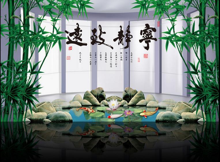 customize 3d landscape wallpaper High-end bamboo wallpaper for walls 3 d photo wallpaper for living room 3d photo wall mural