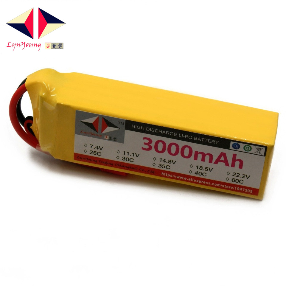 LYNYOUNG 5s Lipo battery 18.5v 3000mah 60c MAX 120c For Helicopter Quadcopter Airplane drone car tcbworth lipo battery 3s 11 1v 3000mah 60c max 120c for rc airplane helicopter quadcopter drone cx20 li ion battery