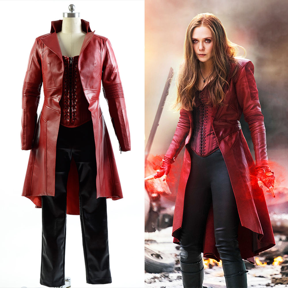 (In Stock)Captain America Civil War Avengers Scarlet Witch Wanda Cosplay Costume Adult Men Halloween Carnival Cosplay Costumes