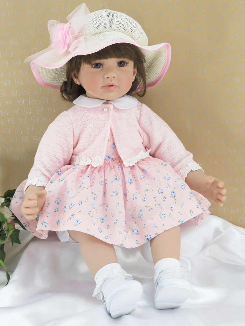 60cm Silicone Reborn Baby Girl Doll Toy For Children Lovely 24inch Vinyl Toddler Princess Babies Dolls Kid Birthday Gift Bedtime baby birthday gift balanced car toddler children toy scooter driving walk