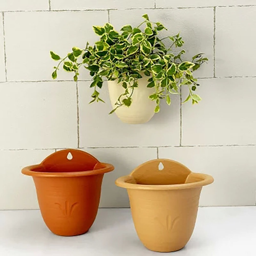 Living Wall Planter, Beige/Tangerine/Light Brown Roman Style Wall Hanging  Planter Pot with One Hook-in Flower Pots & Planters from Home & Garden on  ...