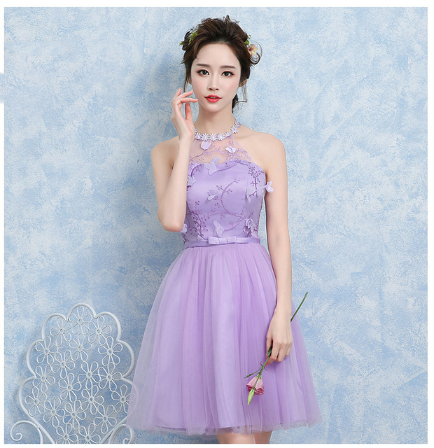 841a6227914 Fashion Sweet 14 To 18 Years Old Girl Lace Dress with Sweet Flower Evening  Short Wedding Party Dresses for Teen Girls