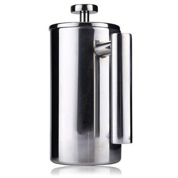 Kawiarka Do Espresso Garnek Praktyczne Cafetiere Ze Stali Nierdzewnej Podwójne ścianki Izolowane Herbaty Ekspres Do Kawy Z Filtrem 350/1000 ML