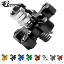 Universal Motorcycle CNC Aluminum brakes Clutch Cable Wire Adjuster For honda CB 599 919 400 CB600 HORNET CBR 600 F2 F3 F4 F4i 22 mm cnc motorcycle handlebar handle bar grips ends for honda cb 599 919 400 cb600 cbr 600 f2 f3 f4 f4i cbr600f cbr600rr