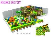 Премиум качество джунгли тематические мягкая игровая площадка Indoor HZ 170329
