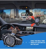 Car bicycle video recorder smart watch WIFI P2P Control of Lan and IR Night Vision Video recordingWIFI smart remote control