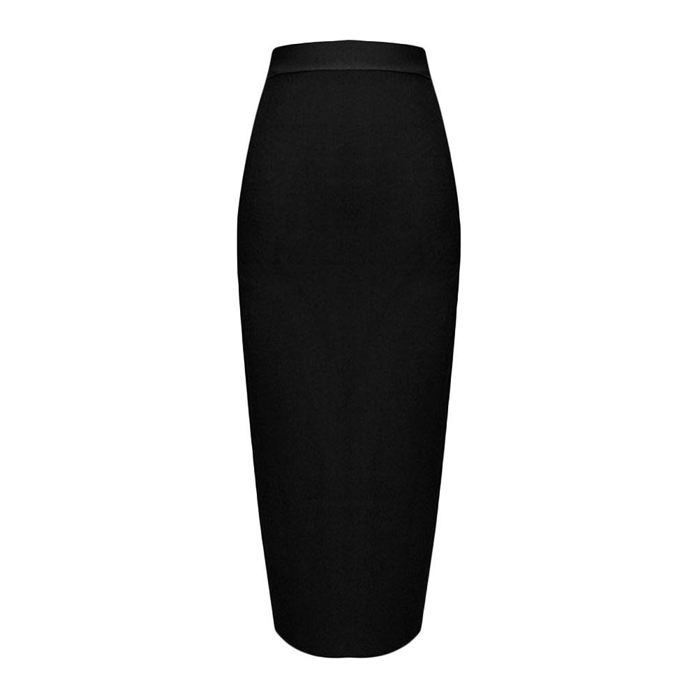 khaki Calf red Skirt Rayon 2018 Black Midi Black blue Sexy Newest Bandage Pencil Elastic wXnOqS7x4