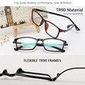Nova Tr90 Ultra Leve Retro óculos de Miopia Homens Quadro Ótico óculos de Aro Cheio de Armações de óculos Mulheres Olho Óculos de Computador Oculos de Grau