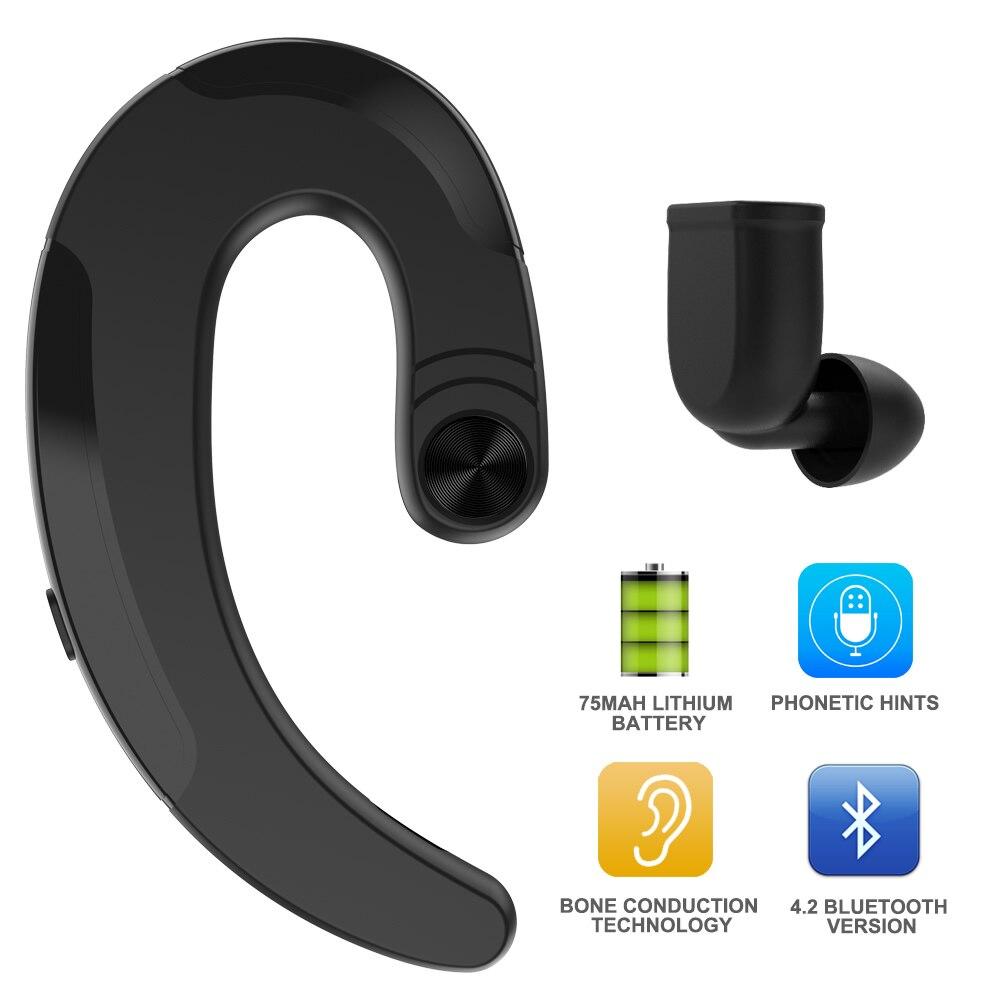 Wireless Earphone Bluetooth Headphones Handsfree Bone Conduction Earphone With Mic Earbuds Sports Headset For Xiaomi LG Iphone