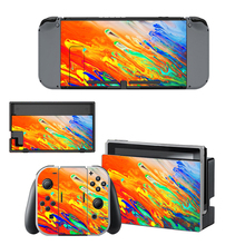 Colorful Vinyl Skin Sticker For Nintendo Switch Console And Controller Protector Cover Decal Skin Sticker