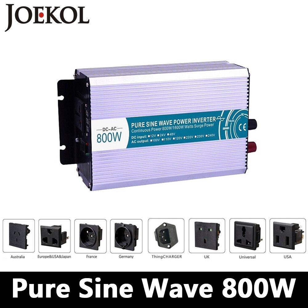 800 W Sinusoïdale Pure Onduleur à Onde, DC 12 V/24 V/48 V À AC 110 V/220 V, hors Réseau Onduleur, solaire Onduleur, Convertisseur de tension Pour La Maison