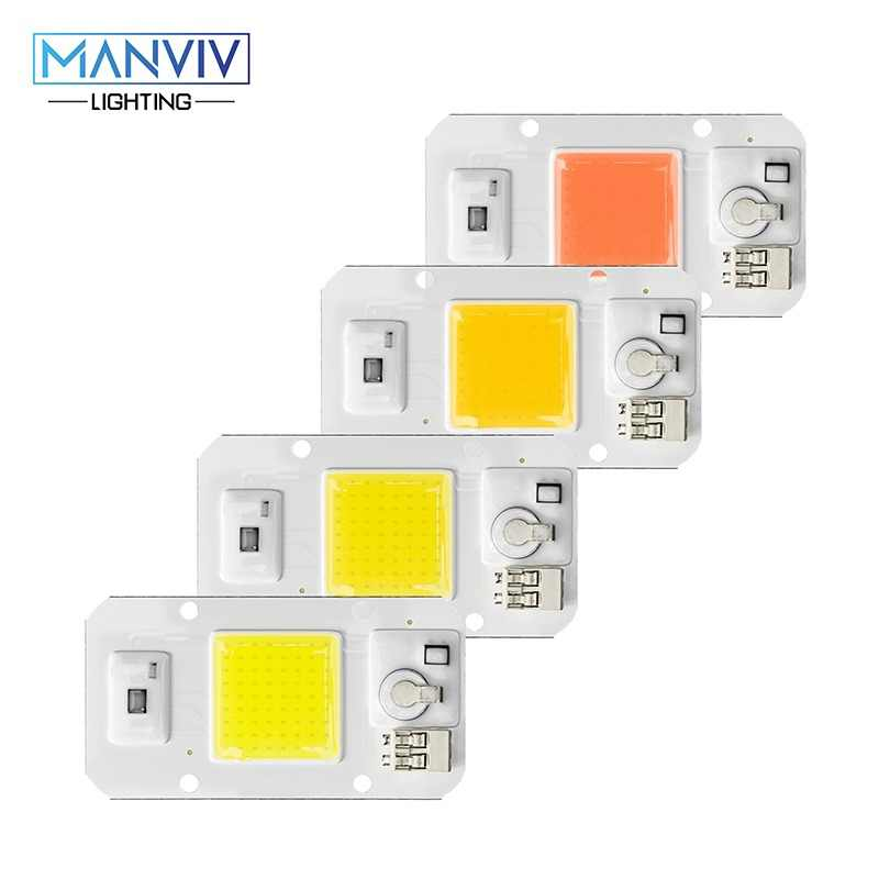 LED COB Dimmable Chip 50W 30W 20W 110 220V Smart IC No Need Driver Chip For DIY LED Floodlight Spotlight Outdoor Light Grow Bead