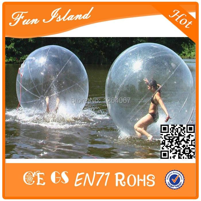 الحرة الشحن كرة الماء المشي 2M TPU ، لعبة كرة الماء للنفخ ، كرة الهامستر الإنسان