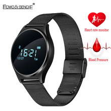 EDWO M7 Bluetooth Smart Watch 0.96 OLED Blood Pressure Heart Rate Monitor Wristband Sport Smartwatch Clock Call Message Reminder