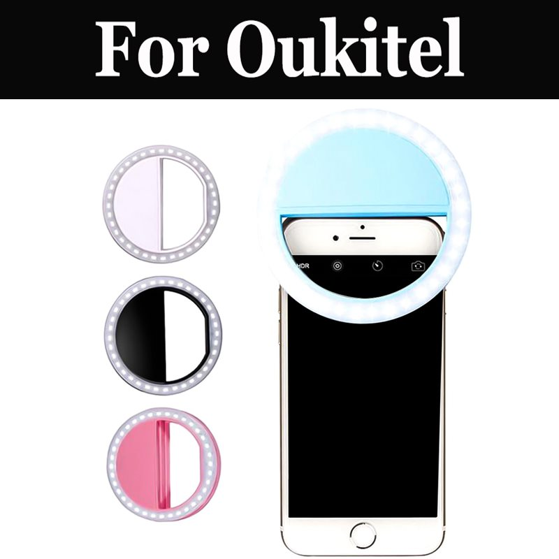 Novelty Rechargeable Led Smartphone Photo <font><b>Camera</b></font> Ring Light For <font><b>Oukitel</b></font> K5000 Mix 2 K8000 C9 C11 <font><b>Pro</b></font> U18 K6 K10 <font><b>K6000</b></font> Premium image