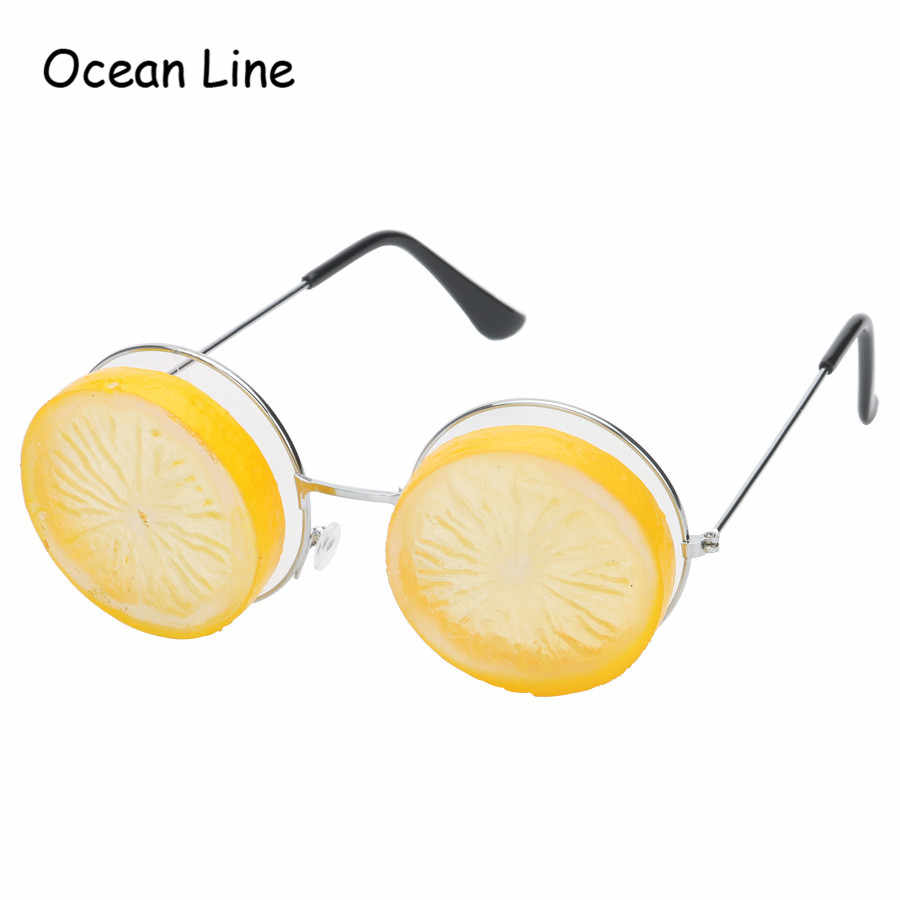 Funny Lemon Tropical Beach Party Miami Style Costumes Photobooth Props  Glitter Beach Glasses Event Party Supplies Decoration