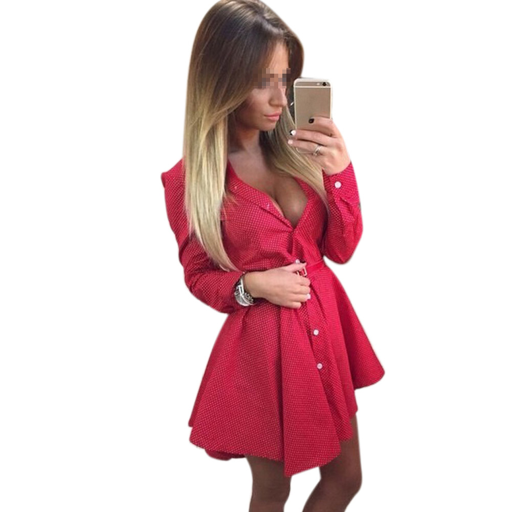 2018 new women long sleeve casual tops blouse t shirt for Empire waist t shirt dress