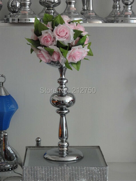 New Arrival Silver Wedding Centerpieces For Table Candle Holders