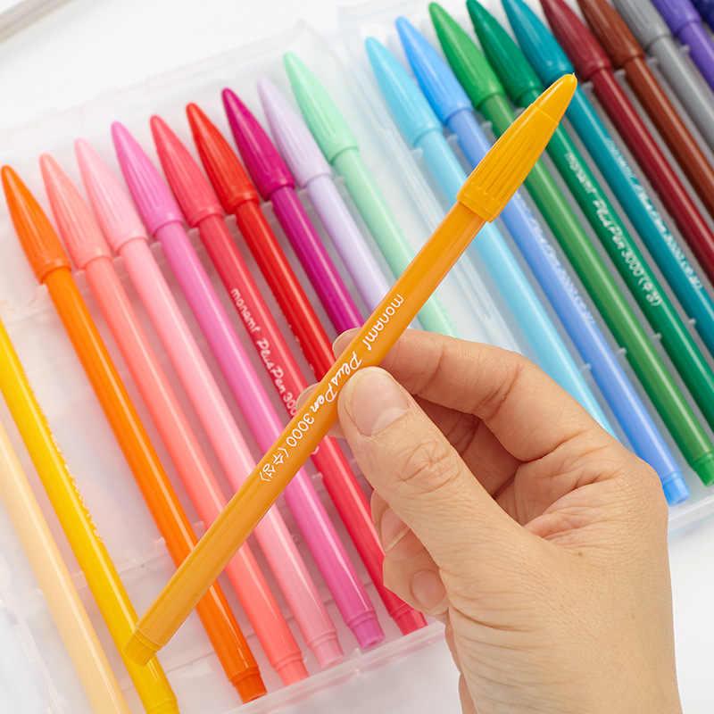 South Korea stationery monami 3000 color gel pen watercolor pen hook line fiber pen for student