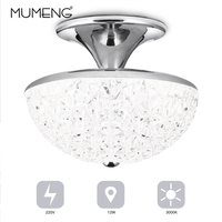 Modern White Chrome Clear Acrylic Cutout Ceiling Light Living Room Bed Room Decoration Lamp Warm White Lighting Fashion Fixtures