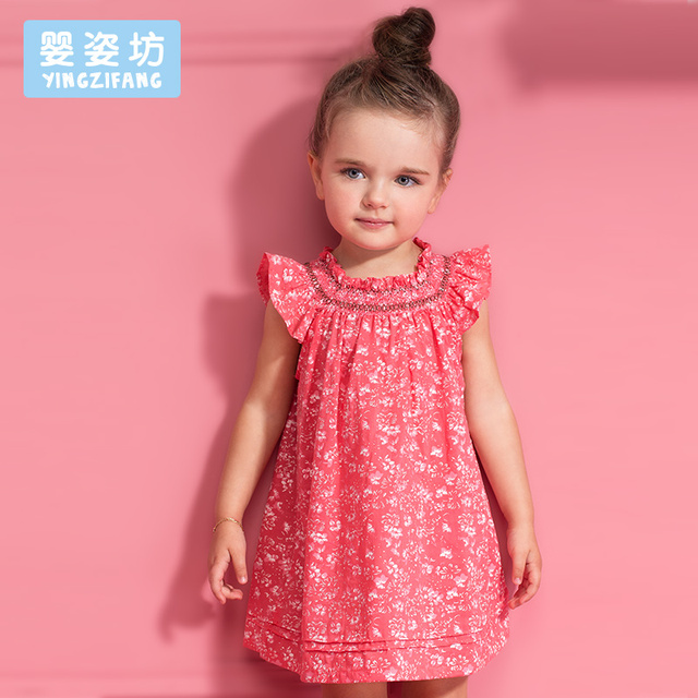 8aedc1946 2016 Summer Toddler Baby Girls Casual Simple Lotus Leaf Collar Cotton Soft  Blouse Tops/ Dresses