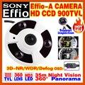 "2016New Panorama 360 1/3""Sony CCD 4140Effio-E-A HD CCTV Camera Indoor Array Night Vision 20m Security Surveillance OSD Meun AHDL"