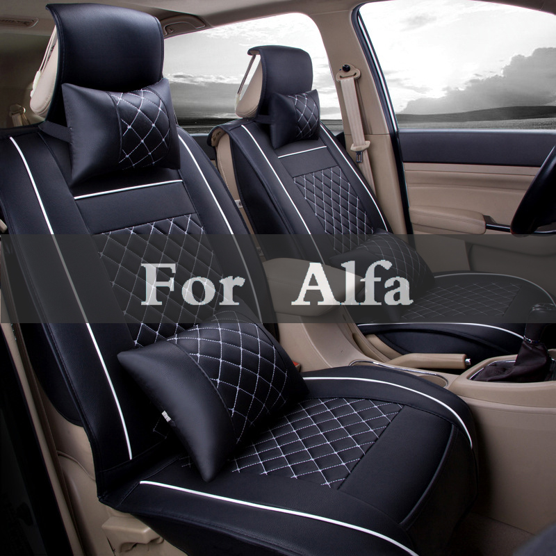 Cover Single Leather Auto Universal Car Seat Covers Automotive Seat Covers For Alfa Romeo 166 8c Brera 4c 147 159 156 цена