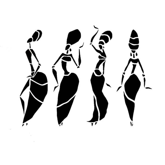 17 13 1cm abstract african women dancing car stickers cartoon motorcycle vinyl decals black african american women clipart free african american women clipart free