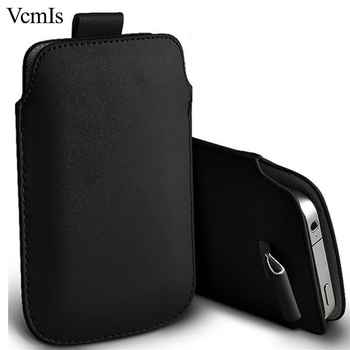 Fashion PU Leather Pull Tab Sleeve Pouch For LG X venture H700 Phone Cases Bag Universal Full Protective Pouch image