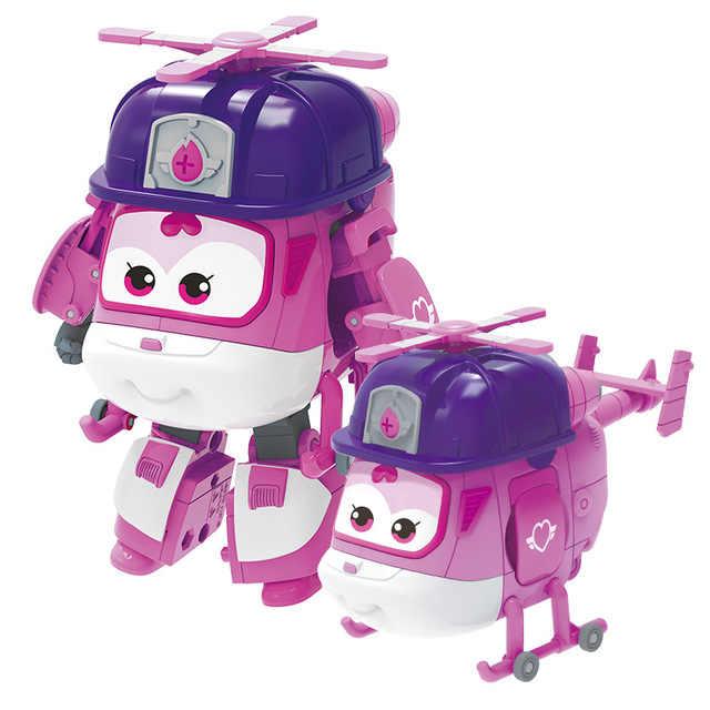 SEIZOEN 5-15 CM ABS Super Vleugels Speelgoed Vervorming Vliegtuigen Transformatie robot speelgoed Action Figures Speelgoed Voor kinderen geschenken