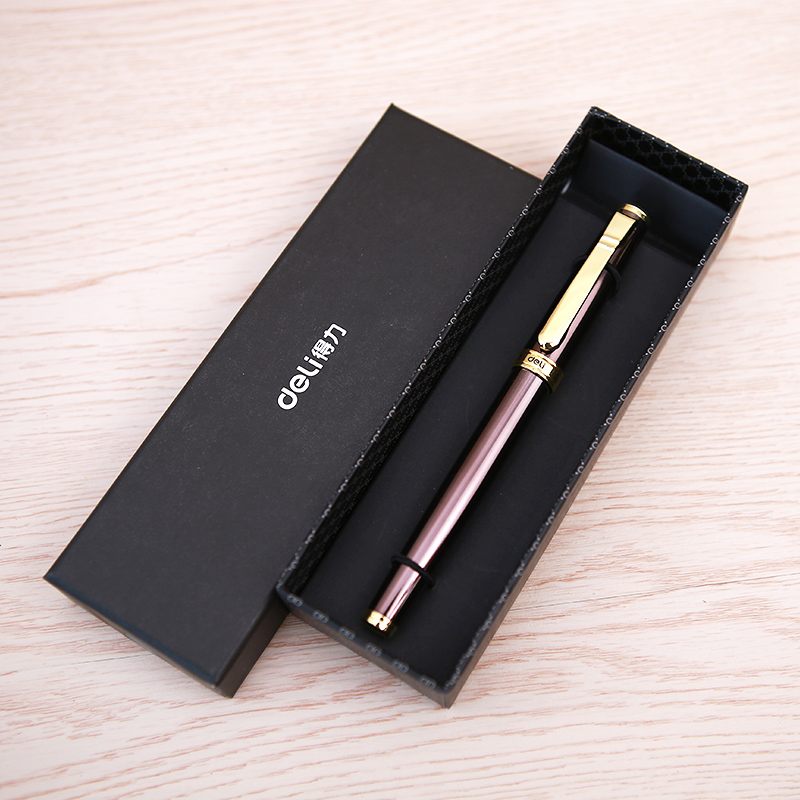 1 Pack Business Gift Metal Gel Ink Pen 0.5mm Black Ink Gift Pen For Man 2017 New Arrival Deli S86 fine tech gel pen 12 pack black ink