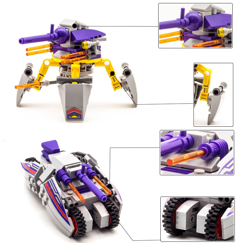 683 pcs 8 in 1 Space War 1402 Warship Military Building Blocks Sets Assembly Children Educational Toys Christmas Kids Gift Drop