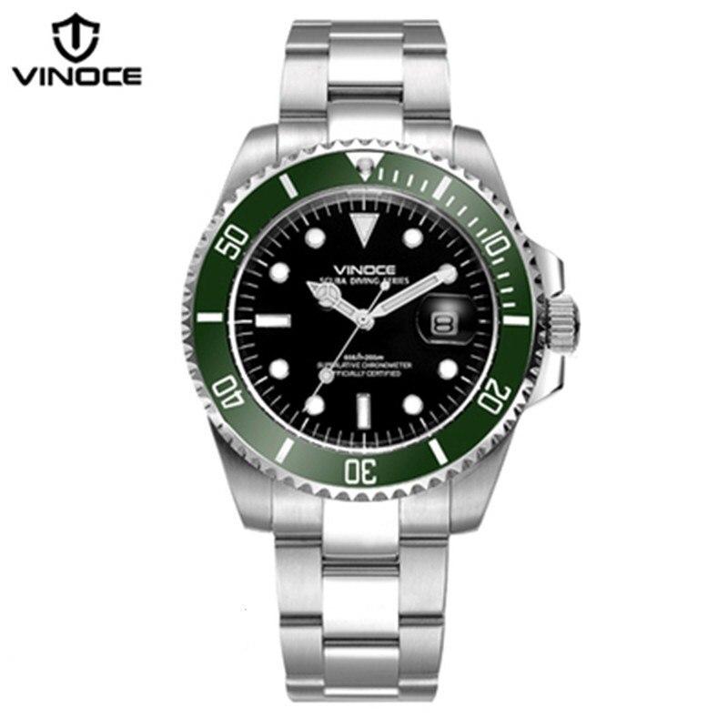 200 metrów wodoodporne zegarki nurkowe ze stali nierdzewnej sport - Męskie zegarki - Zdjęcie 3