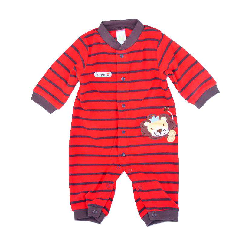 Lion The King Red Stripes Fleece Jumpsuit Baby Rompers for Boys Infantil Macacao Bebe Newborn Baby Boy Clothes Infant Clothing cute minnie baby girl romper long sleeve baby clothes roupa infantil macacao ropa bebe jumpsuit baby rompers infant clothing