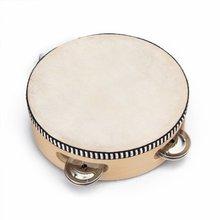 8 Pack 6″ Musical Tambourine Tamborine Drum Round Percussion for KTV Party