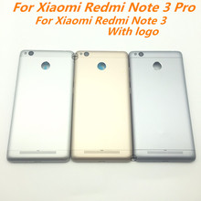 Original Metal Back Shell Housing Door For Xiaomi Redmi Note 3 Pro Battery Cover Case with Camera Glass Lens ON OFF Side buttons